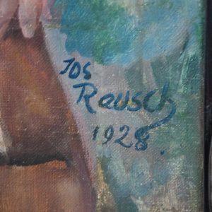 Antiikne õlimaal musta raamiga Saksa daam,Joseph Rauch 1928a HINNDAMISEL