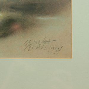 Georg Westenberg (1902-1980) Nelgid vaasis,pastell 1934a