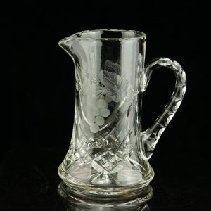 Antique Estonian Lorup crystal pitcher , jug