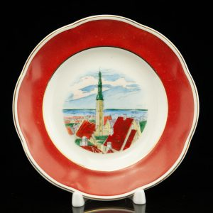 Porcleain plate, view of Tallinn