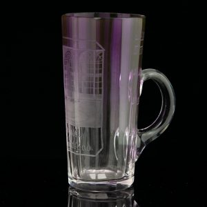 Antique fading lilac glass measuring cup - Karlsbad