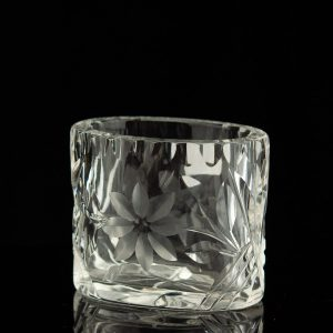 Antique Estonian Lorup crystal cigarette cup