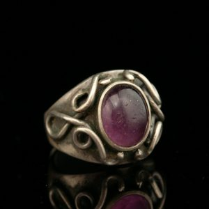 Swedish amethyst silver ring