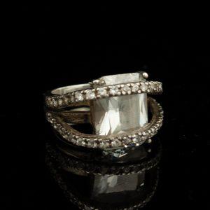 Sõrmus, hõbe, mäekristall