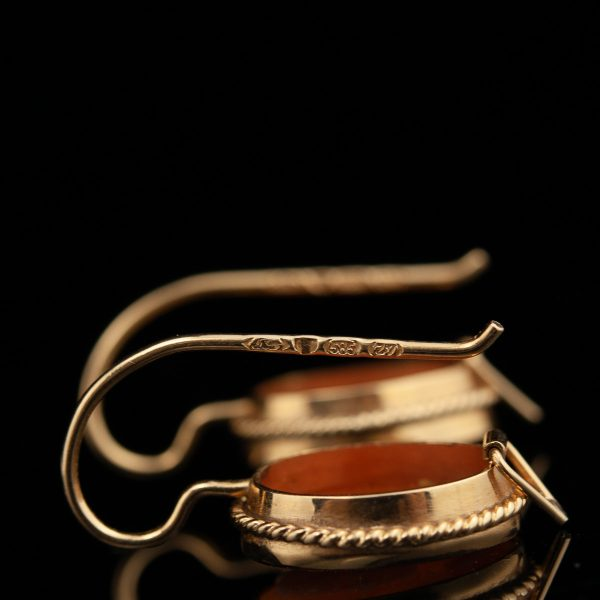 Kamee-kõrvarõngad, 583 kuld