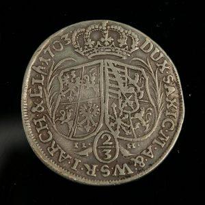 Antiiknre Saksa 2/3 taalrit, hõbe, 1703