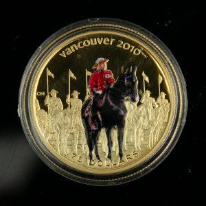 "Kanada kuldmünt 75 dollatit, 2007 ""Vancouver 2010"""