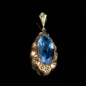 Ripats, 925 hõbe, sinine kivi