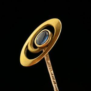Antique Estonian gold pin