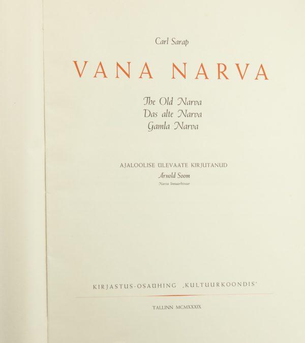 Antique estonian book by Carl Sarap