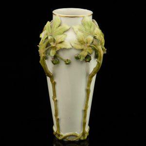Antique art nouveau porcelain vase