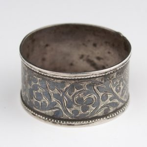 Antique 84 silver niello napkin ring