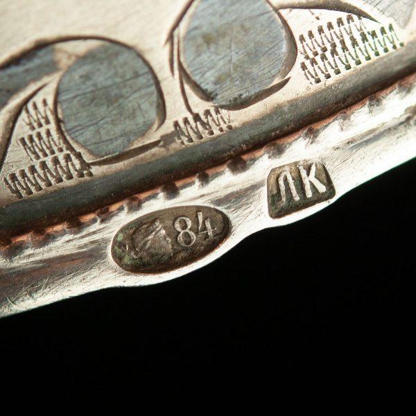 Antiikne salvrätiku rõngas, 84 hõbe, niello