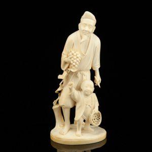 Antiikne luust Jaapani figuur