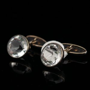 Vintage silver 925 cufflinks with mountain crystals