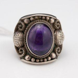 Antiikne Soome sõrmus, 813 hõbe, ametüst
