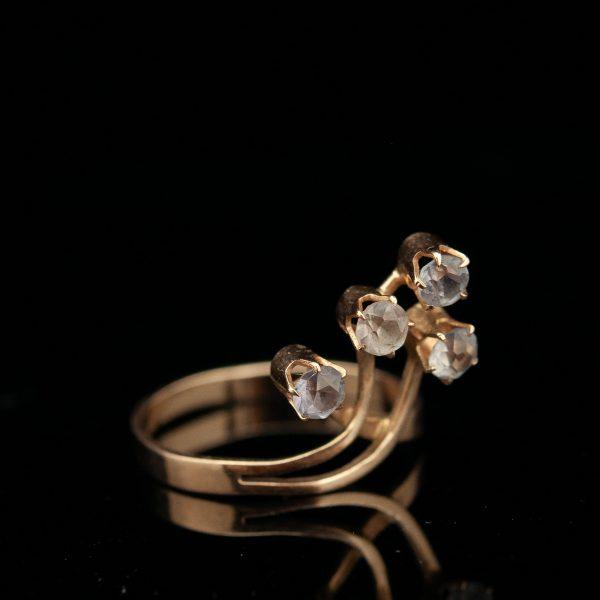Sõrmus, 583 kuld, aleksandriit (?)