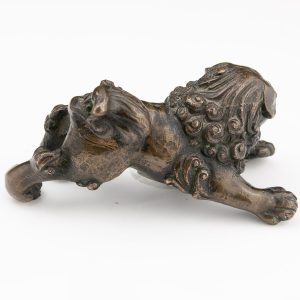 Antique Chinese bronze Fo dog figure