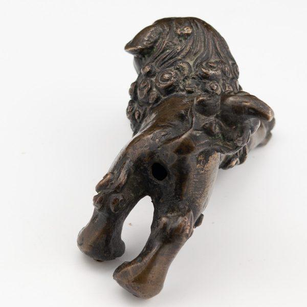 Antiikne Hiina foo koera figuur, pronks