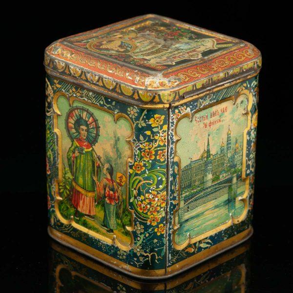 Tsaari-Vene teepurk Idamaiste piltidega, plekk