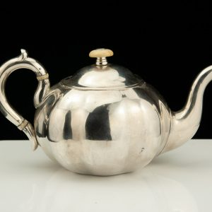 Antique 1859 Imperial Russian teapot , ivory parts , CAS , 84 silver AM