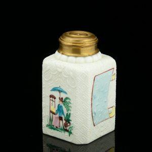 Antiikne Vene teepurk, klaas, käsimaaling