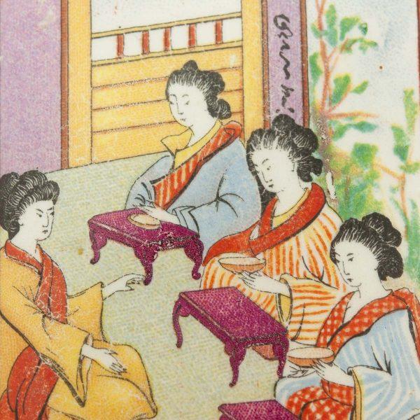 Antiikne teepurk - Idamaiste piltidega