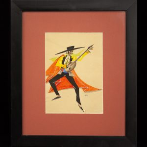 Karl Herman (1903-1950) Tantsija banžoga,akvarell