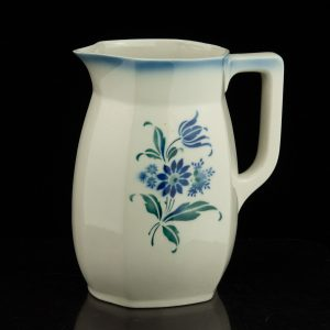 Antique Latvian ceramic milk jug, Jessen Riga