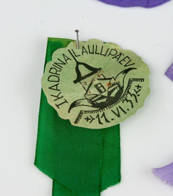 Kadrina Laulupäeva I 1933a osaleja rosett