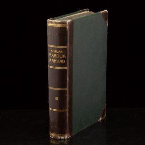 Antique Estonian book  Maailma maad ja rahvad III 1932a