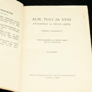 AUR,TULI ja VESI Elav Teadus 35,1934a