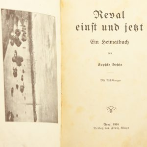 Antique German book REVAL 1910