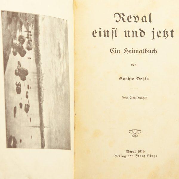 Antiikne saksakeelne raamat Reval 1910a