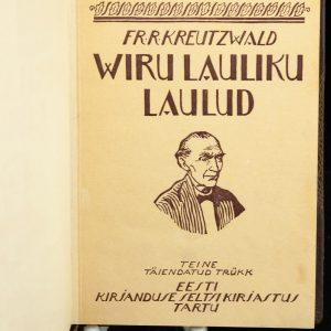 Estonian Bok Viru lauliku laulud, Fr.R.Kreutzwald 1926a