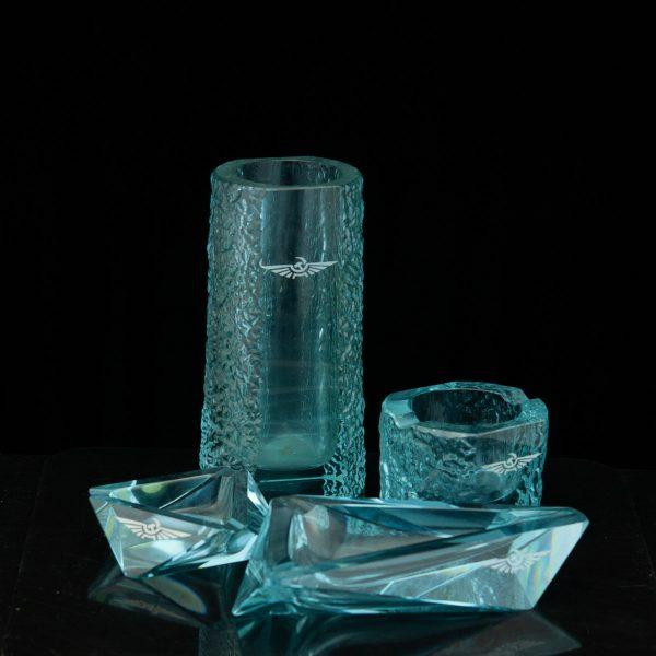 Värvilisest klaaist tuhatoosid ja vaas АЭРОФЛОТ Venemaa