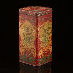 Antique Imperial Russian tin tea box