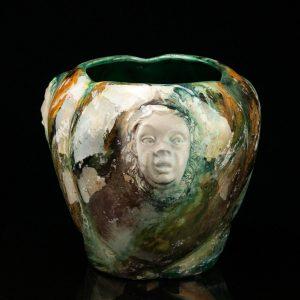 Art deco keraamiline vaas Nägudega