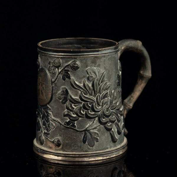 Antique asian silver cup