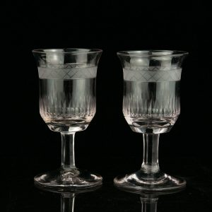 Antique pair of drinking glasses