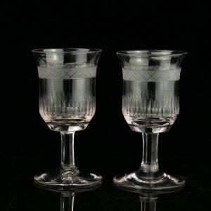 Antiiksed klaasid 2 tk. (klaase saab osta ka üksikult)