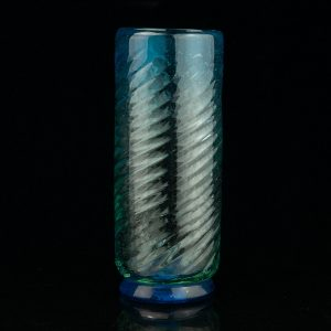 Antique blue glass vase