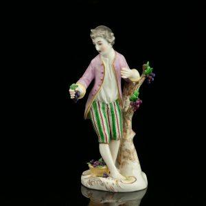 Antiikne portslan figuur, Ludvisburg 19saj. teine pool