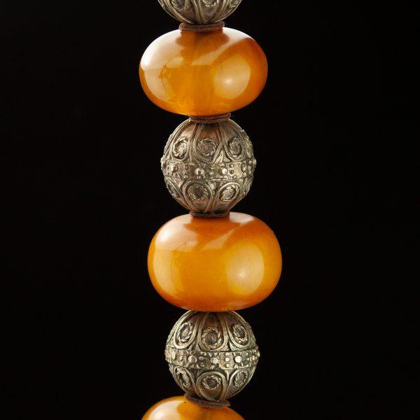 Antiikne Tiibeti kaelaehe - copal, metall