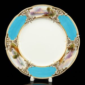 Antque English porcelain plate , hand painted