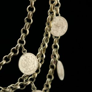Antique Estonian national silver necklace with coins