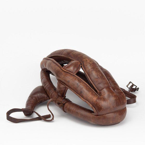 Antique protective leather helmet