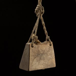 Antique wood cow bell