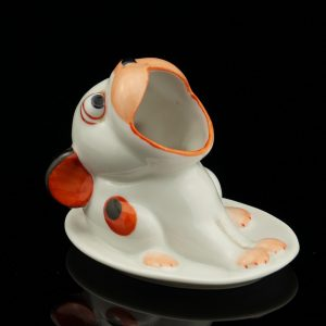 Porcelain dog shaped match holder