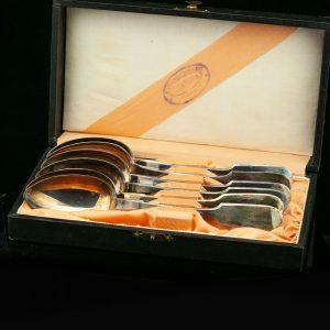 EW supilusikad 6tk.875 hõbe, originaal karbis (Kulla ja Kellasepa äri J.Tibbing Petseris)